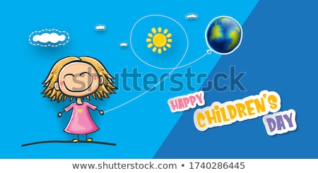 International Childrens Day. Boys and girls are holding hands Stock photo © orensila