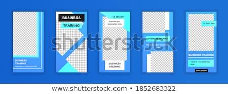 Bannière modèles ensemble réseau modernes résumé Photo stock © orson