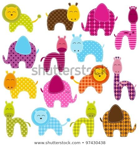 動物 ジャングル 実例 カラフル サファリ動物 ライオン ストックフォト © lenm