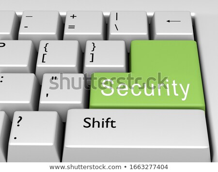 Stock foto: Security Solutions Closeup Of Keyboard 3d