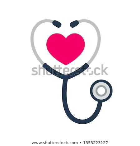 стетоскоп сердце символ медицинской акустический инструмент Сток-фото © Valeo5