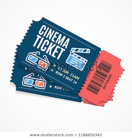 Set of colorful cinema tickets Stock photo © milsiart