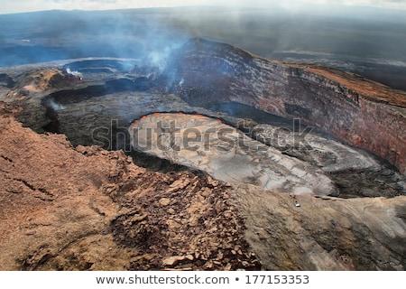 Sigara içme büyük ada Hawaii volkanik etkinlik Stok fotoğraf © kraskoff