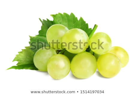 Stok fotoğraf: Grape Cluster Isolated On White