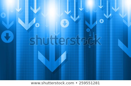 blue background with line arrow moving upwards Stock photo © SArts
