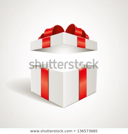 open · scatola · regalo · confetti · Natale · carta · luce - foto d'archivio © popaukropa