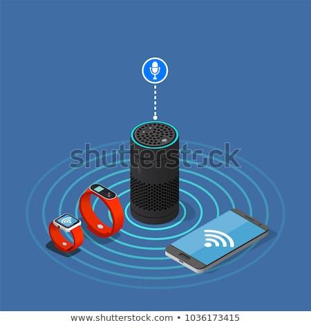 Digital vetor vermelho internet coisas controlar Foto stock © frimufilms