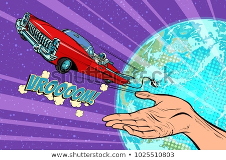 Humanity launches into space car Stock photo © studiostoks