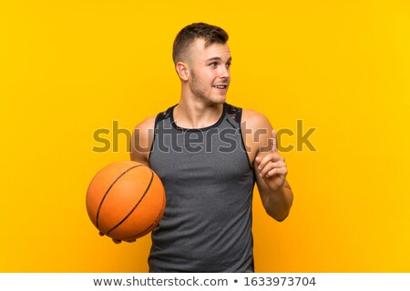 Lifting player up to basket Stock photo © IS2