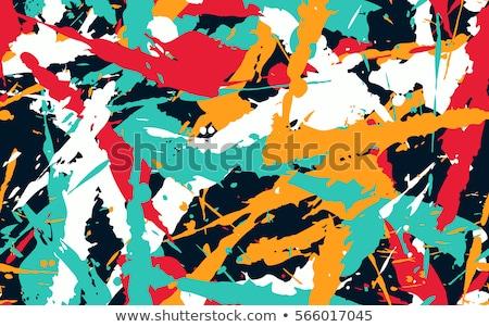Végtelen minta graffiti vektor címkék divat feketefehér Stock fotó © Vanzyst