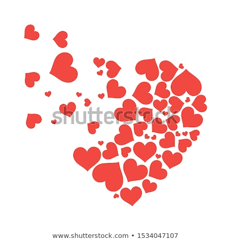 Red hearts icons in different style Stock photo © studioworkstock