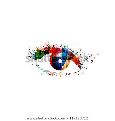 abstract artistic creative detailed human eye stock photo © pathakdesigner