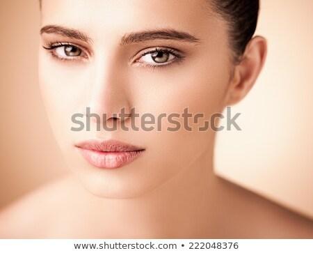 Güzellik portre genç gömleksiz kadın kısa Stok fotoğraf © deandrobot