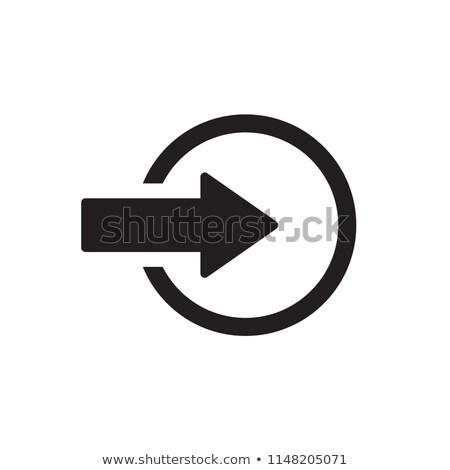 Vector web elemento circular botón icono Foto stock © rizwanali3d