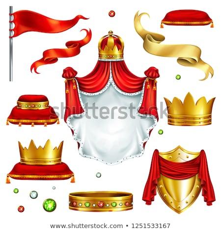 Koning koninklijk gouden middeleeuwse macht vector Stockfoto © konturvid