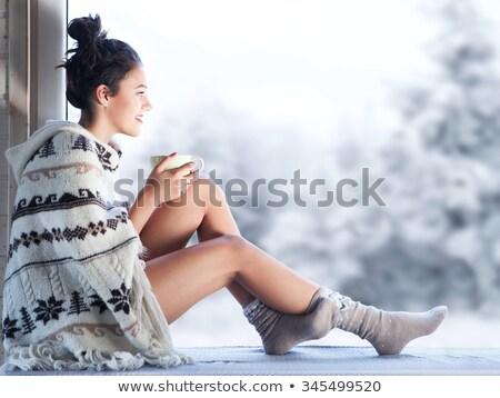 セクシーな女性 · 脚 · クリスマス · 実例 · 少女 · 赤 - ストックフォト © adrenalina