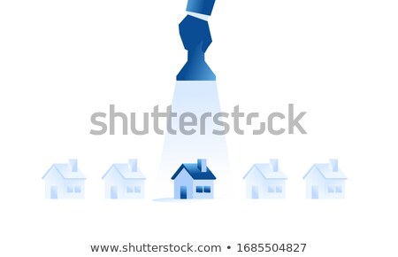 Real estate investing flat isometric vector. Stock photo © TarikVision