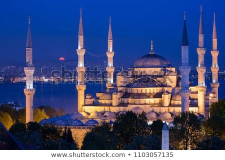 синий мечети вечер Стамбуле Турция Сток-фото © Givaga