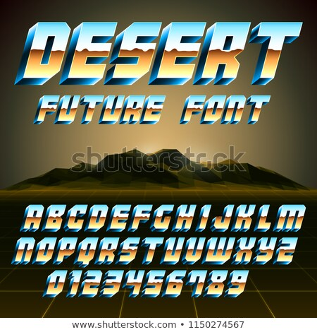 80s Desert Alphabet and Numbers Stock photo © timurock