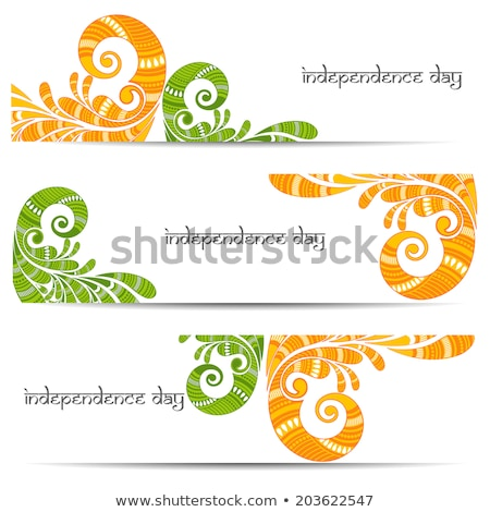 India Independence Day Set Vector Illustration Stock photo © robuart