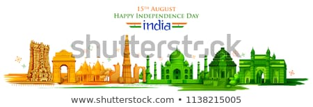 India Poster Cultural Heritage Vector Illustration Stock photo © robuart