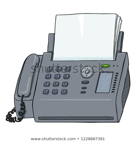 Cartoon Fax Machine Sign Stock photo © cthoman
