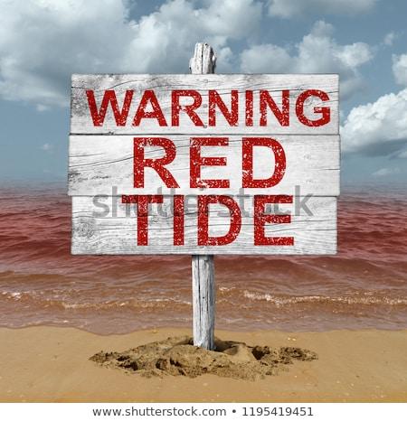 rosso · marea · spiaggia · allarme · pericolosi - foto d'archivio © lightsource