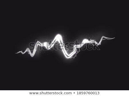 Witte zwarte onweersbui staking elektrische Stockfoto © smeagorl