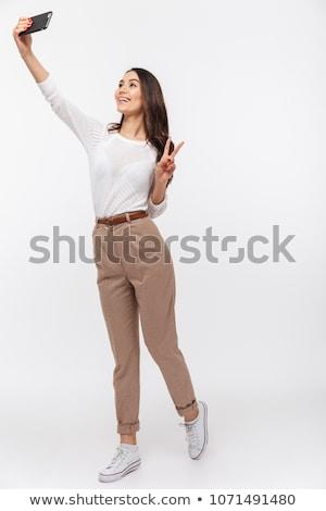 gelukkig · onderneemsters · kantoor · business · technologie - stockfoto © dolgachov