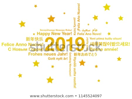 2019 happy new year greetings card from the world stock photo © daboost