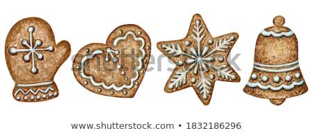 Noel kurabiye yalıtılmış beyaz suluboya örnek Stok fotoğraf © Natalia_1947