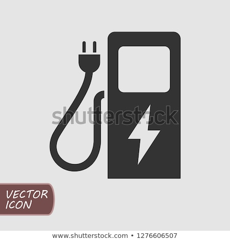 electric plug icon charging station vector sign isolated on modern background stock photo © kyryloff