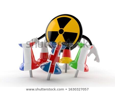 Radioattivo nucleare simbolo bandiera isolato bianco Foto d'archivio © daboost