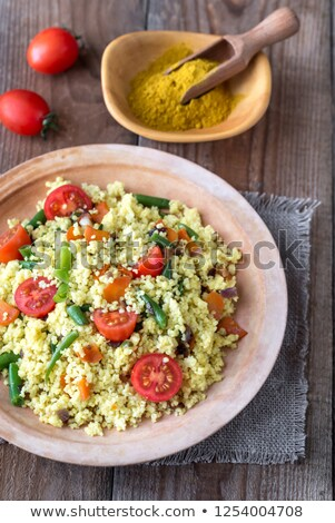 Stock photo: Millet stir-fry with vegetables