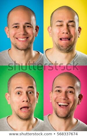 Cara raiva feliz emoções retrato Foto stock © AndreyPopov