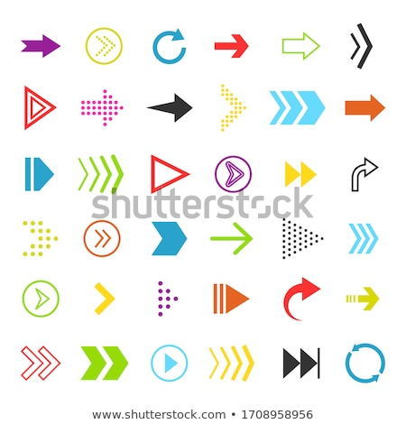 colorful arrow vector icon set element stock photo © blaskorizov