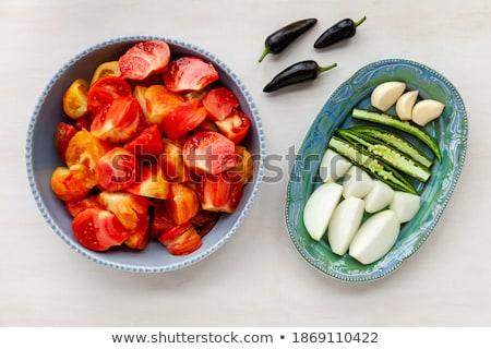 Tomato chunks halved slices Stock photo © maxsol7