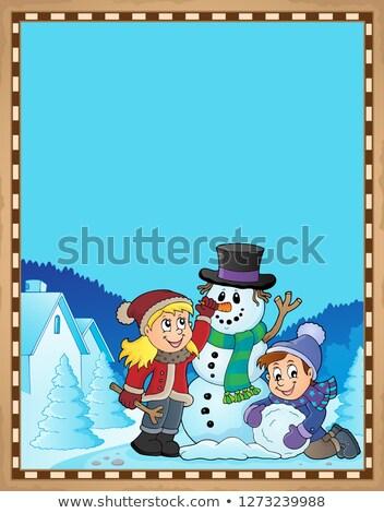 papírzsebkendő · papír · csíny · illusztráció · gyerekek · játszanak · gyerekek - stock fotó © clairev