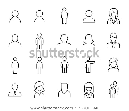 Male and Female Profiles Set Vector Illustration Stock photo © robuart