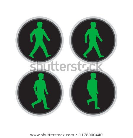 Traffic Light Man Walking Retro Stock photo © patrimonio