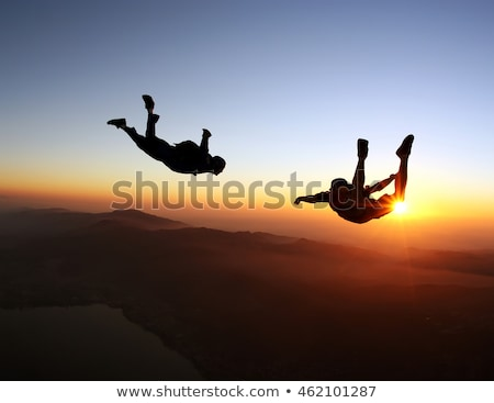 небе дайвинг иллюстрация человека спорт костюм Сток-фото © colematt