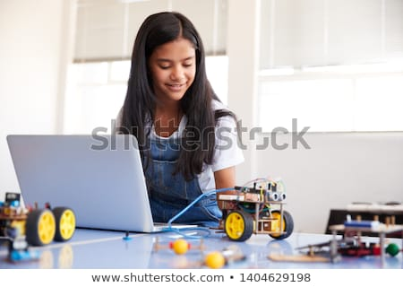 kind · robot · genetisch · engineering · baby · toekomst - stockfoto © dolgachov