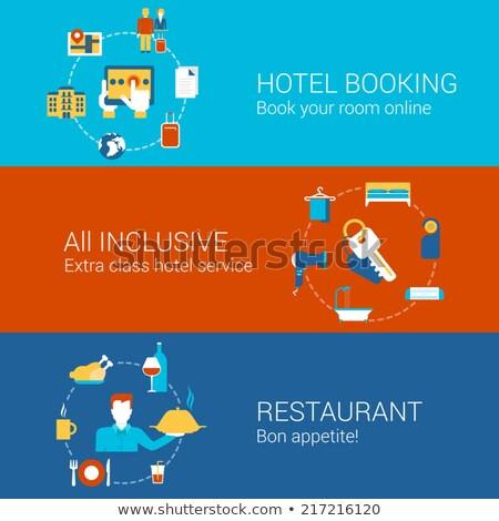 Hotel ludzi biznesu usług wifi luksusowe Zdjęcia stock © RAStudio