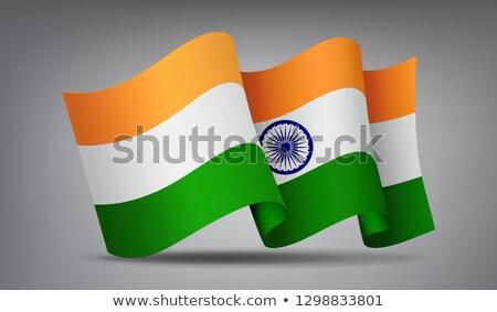 Indie banderą ikona odizolowany urzędnik Zdjęcia stock © MarySan