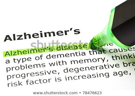 'Alzheimer's disease', under 'Alzheimer's' Stock photo © ivelin