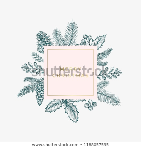 merry christmas natural design layout stock photo © solarseven