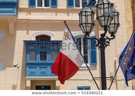 дома флаг Мальта белый домах Сток-фото © MikhailMishchenko