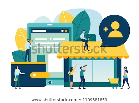 Open vacancy - flat design style vector illustration Stock photo © Decorwithme
