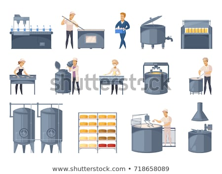 Milk production cartoon concept icons Stock photo © netkov1