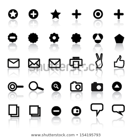 thumb up and peace chatting sign icon set vector stock photo © robuart